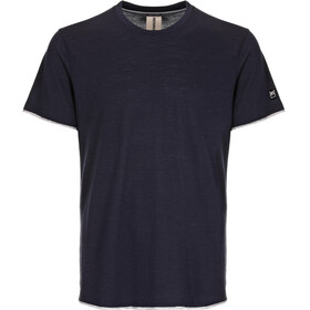 super.natural M's City Tee Blue Black/Ash Melange